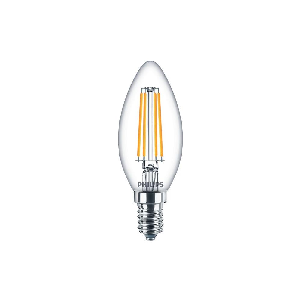 Philips Classic LEDcandle 6,5W Ersatz für 60W B35 E14 827 806lm 2700K klar