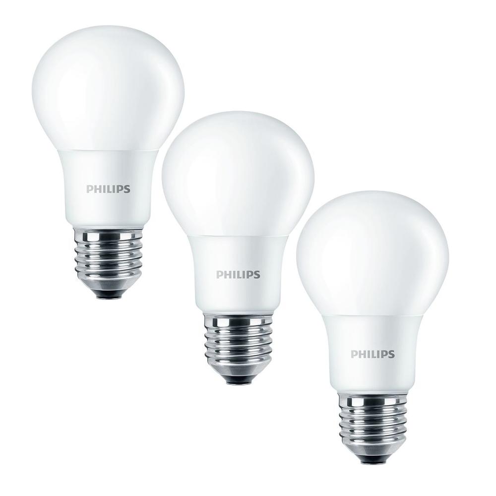 3er Pack Philips CorePro LEDbulb 8W(60W) E27 806lm 2700K 827 A60 matt warmweiß