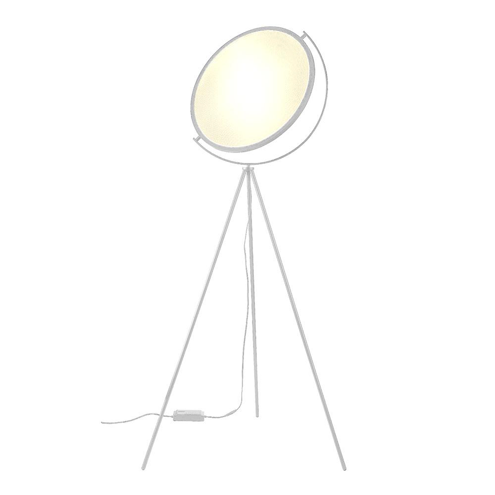 LED GagaDisc Stativ Stehleuchte 20W 1300lm 3000K dimmbar weiß Höhe 160cm