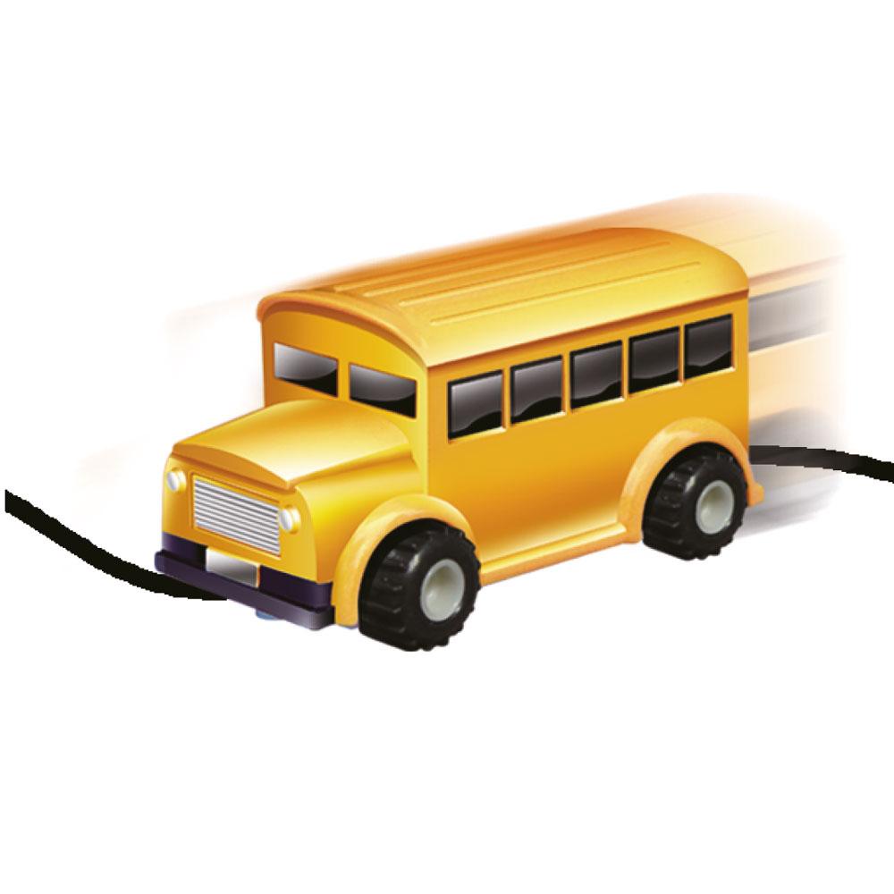 DS24 Induktiver Schulbus Spielzeug Fahrzeug mit magischem Stift Gadget