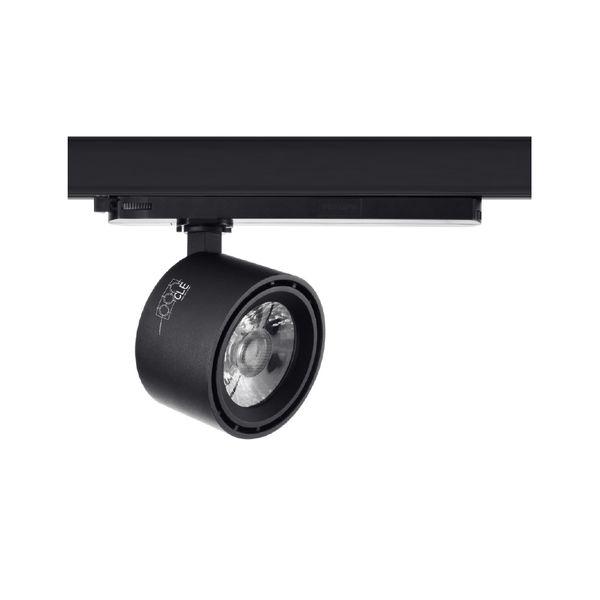 CLE SUPREME ROUND 1 EYE LED 3 Ph Stromschienenstrahler schwarz 28W 2800 Lumen In-Track Driver Profi Shoplight