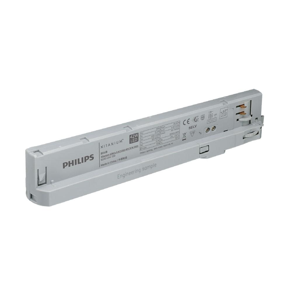 Philips LED 3 Phasen In Track Adapter Xitanium  900-1050mA 30-40V 42W 230V alugrau Trafo Netzteil Netzgerät Konstantstromtrafo