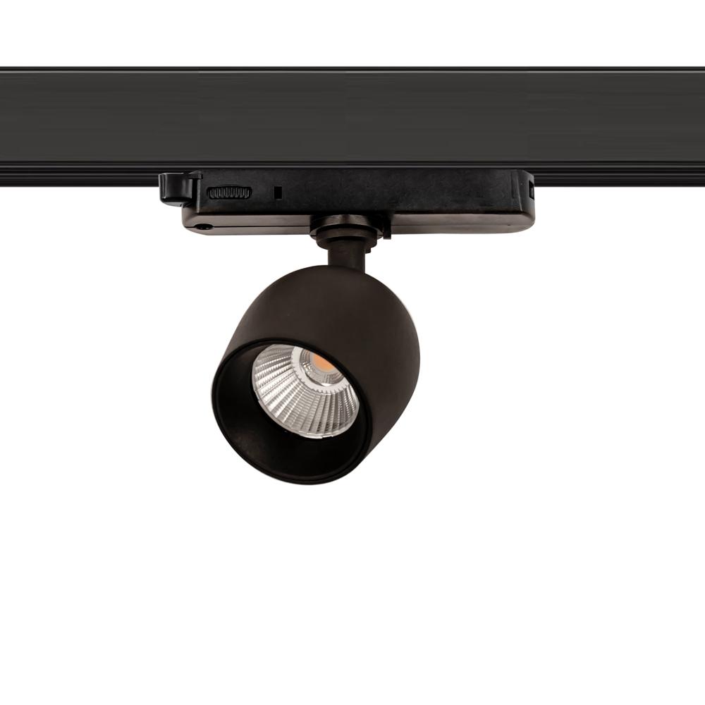 CLE SUPREME PROFI 1 EYE LED 3Ph Stromschienenstrahler 10W 3000K 990lm 36 Grad schwarz In-Track Driver