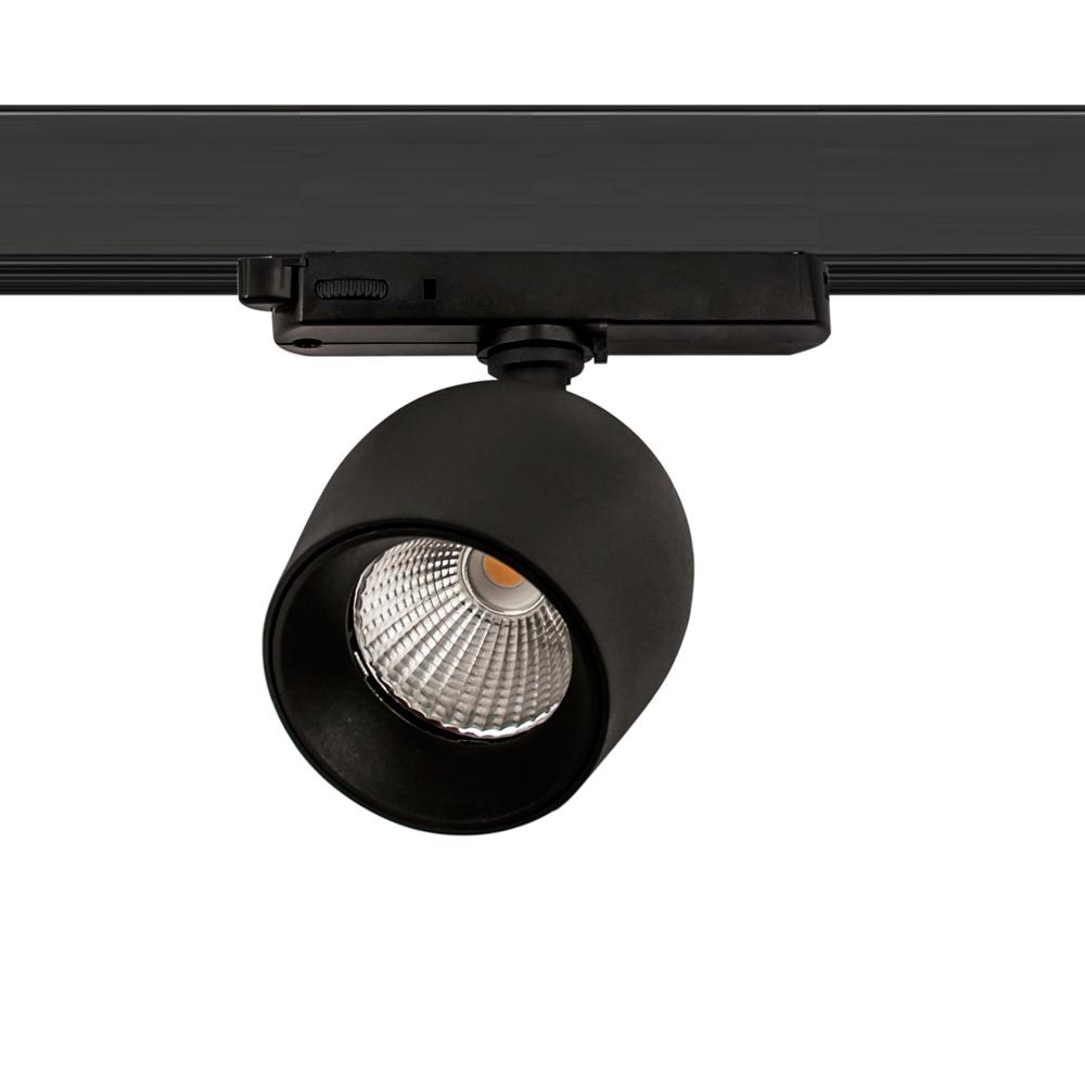 CLE SUPREME PROFI 1 EYE LED 3Ph Stromschienenstrahler 20W 3000K 2000lm 36 Grad schwarz In-Track Driver