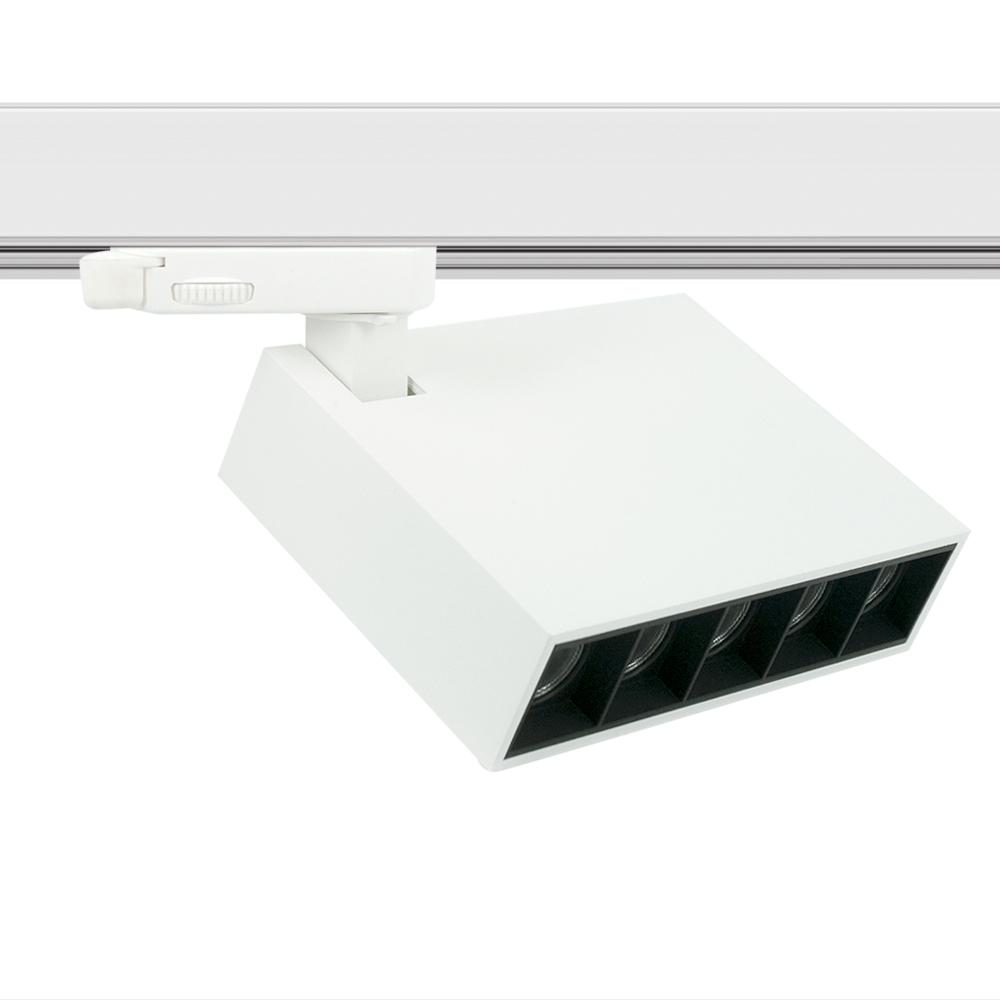 CLE SUPREME PROFI 3 LED 3Ph Stromschienenstrahler 12W 3000K 800lm 36 Grad weiss