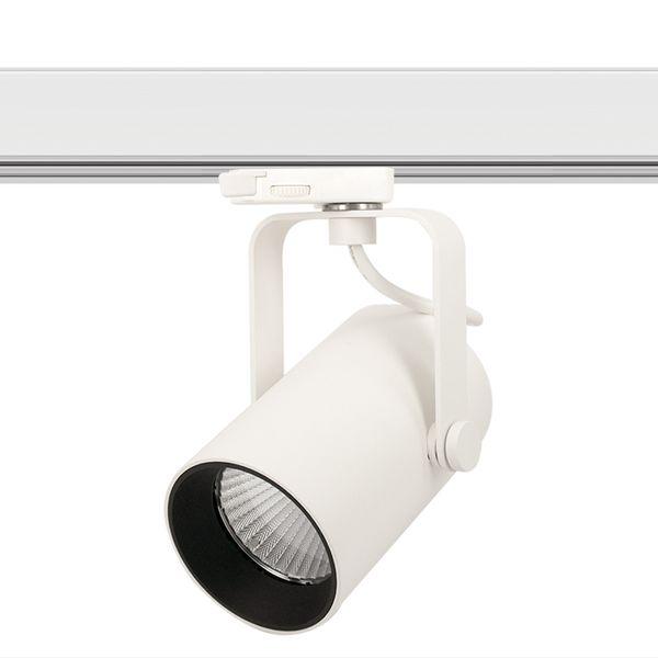 CLE SUPREME PROFI 4 EYE LED 3Ph Stromschienenstrahler 14W 3000K 1400lm 36 Grad weiss