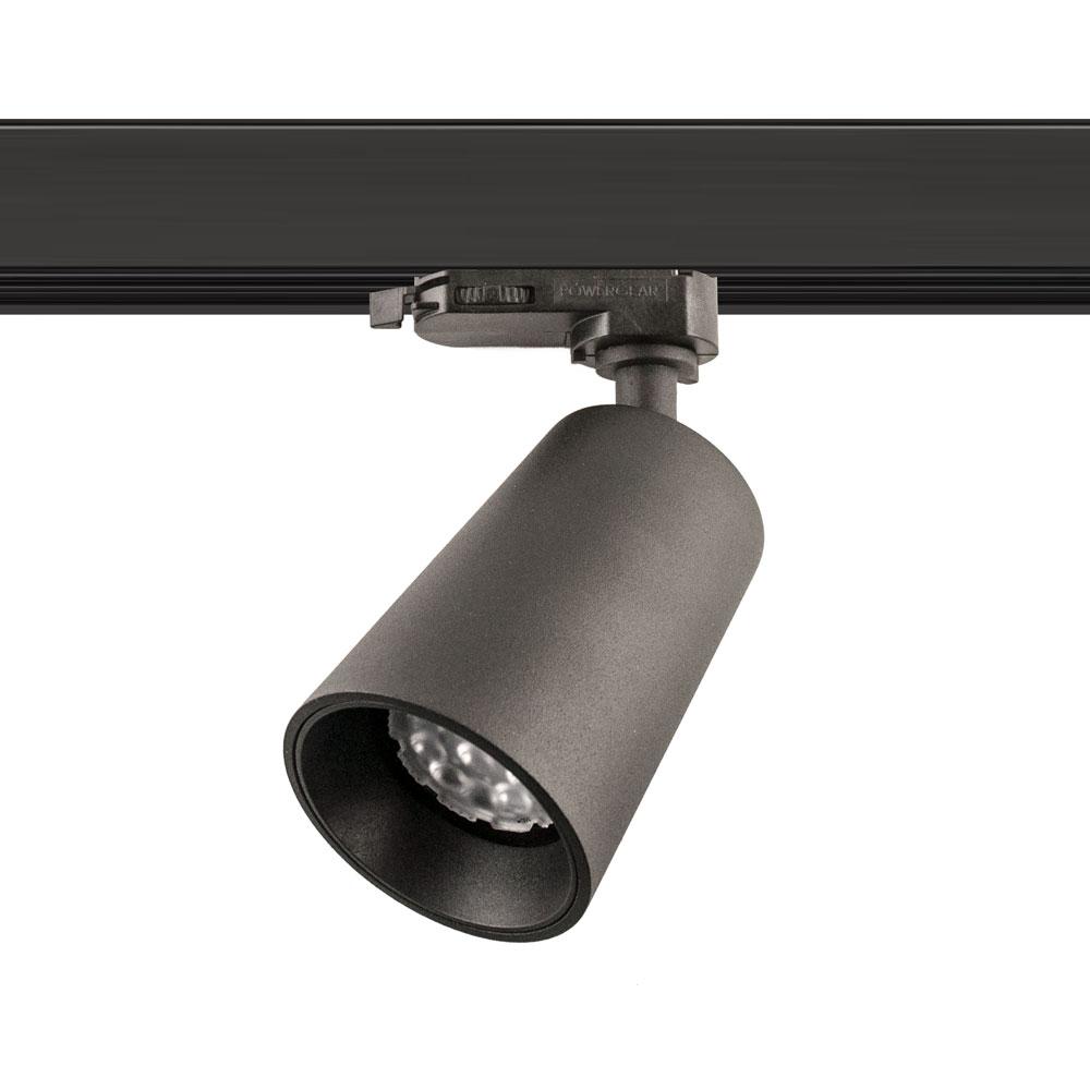 CLE PURI 2 SUPREME EYE GU10 LED 3Ph Stromschienenstrahler inkl. Adapter schwarz