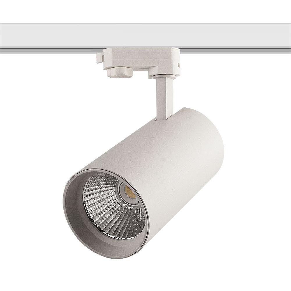 CLE SUPREME VARIO EYE LED 3Ph Stromschienenstrahler 30W TRI CCT 3000/4000/6000K 2400lm 36 Grad weiss