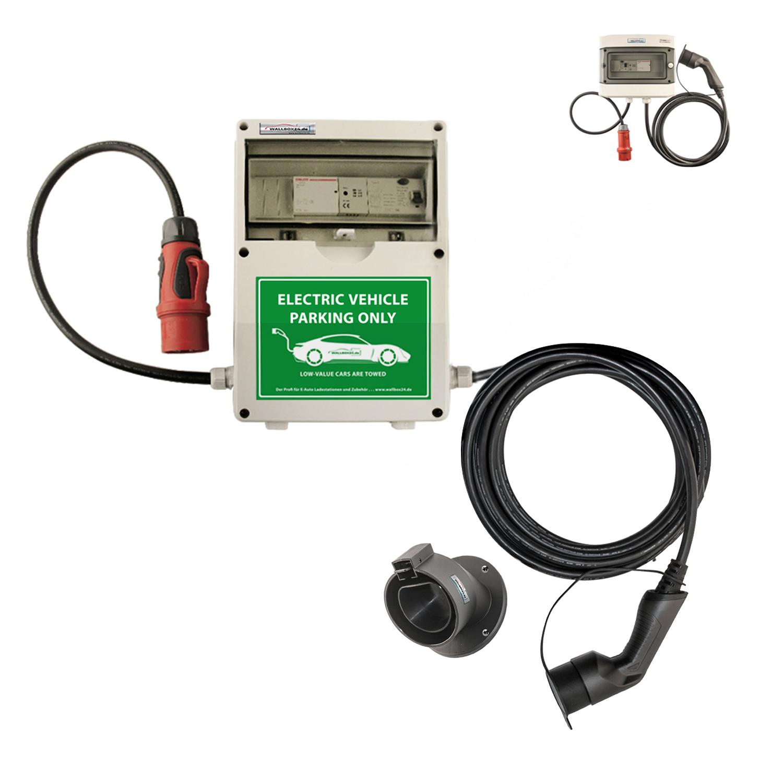 WB24 Wallbox 3 Phasig 400V 11kW 16A Typ 2 5m Ladestation für Elektro-/Hybridautos
