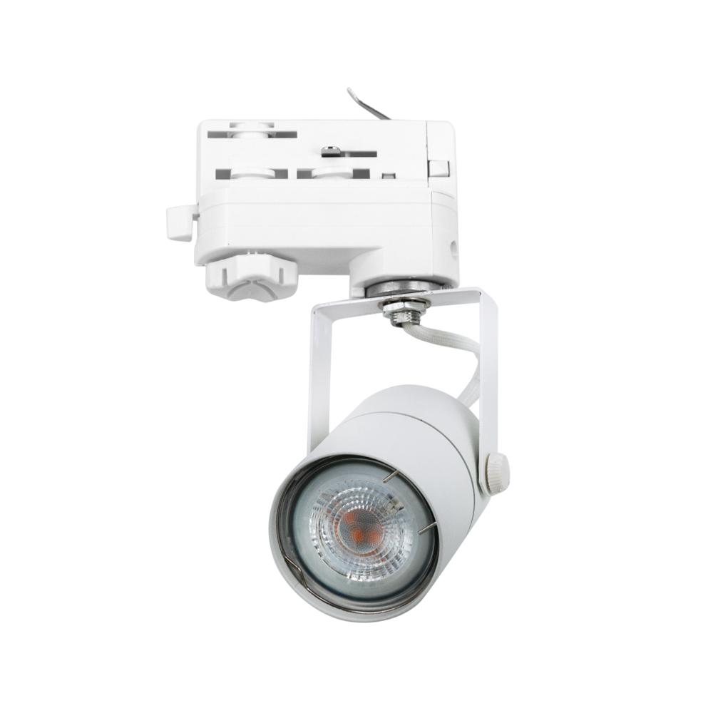 CLE UNI SPOT 790 Stromschienenstrahler weiss LEDspot 4,6W(50W) 355lm 2700K 3 Ph Adapter