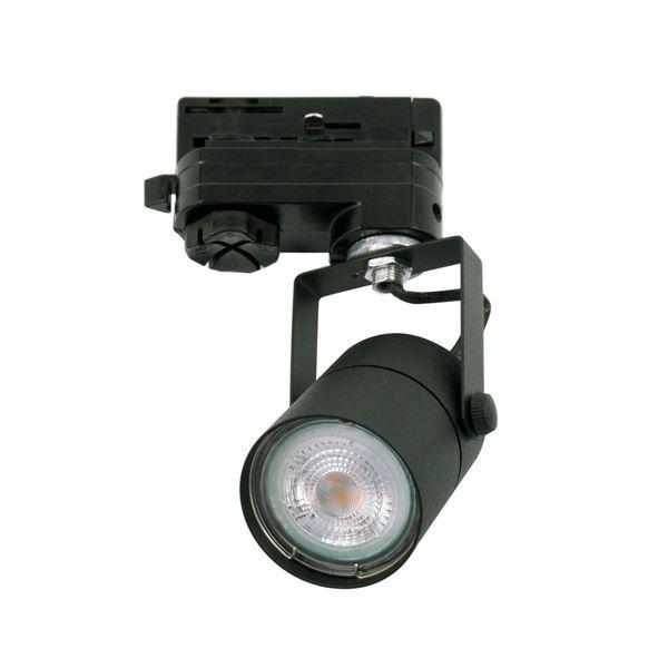 CLE UNI SPOT 790 Stromschienenstrahler schwarz LEDspot 4,6W(50W) 355lm 2700K 3 Ph Adapter