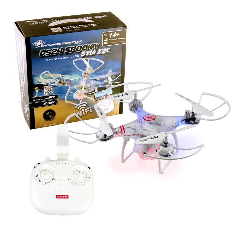 DS24 New Spooky Anfänger Drohne Drone Quadrocopter Wifi höhenstabil Kamera klar