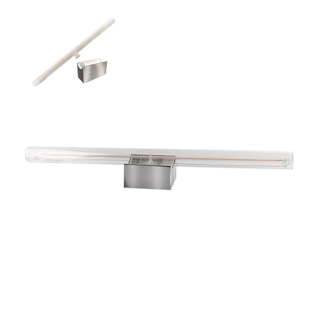 CLE Spiegelleuchte LED Linienlampe Kristall Soft Filament 5W(60W) 350lm 2200K warmton extra edelstahl gebürstet
