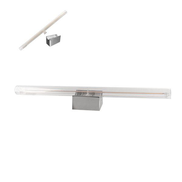 CLE Spiegelleuchte LED Linienlampe Kristall Soft Filament 5W(60W) 350lm 2200K warmton extra chrom