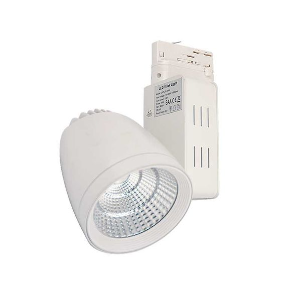 CLE LED Strahler mit FORTIMO 3 Ph Stromschiene 3600lm dimmbar ZigBee 3.0 weiss TL02 24 Grad