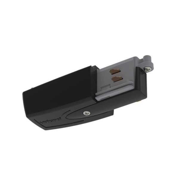 CLE Einspeiser für Profi 3 Ph. Stromschienen Typ A schwarz, Schutzleiter links