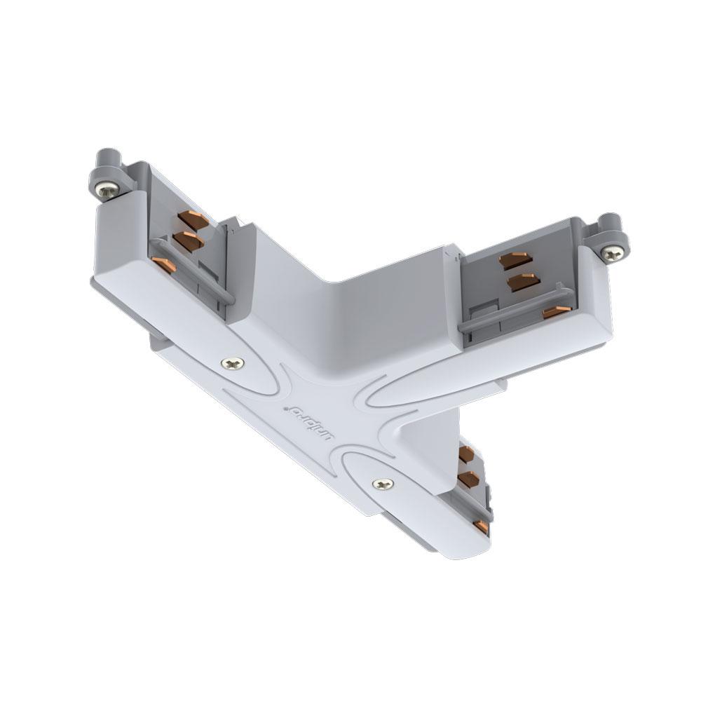 CLE T-Verbinder für Profi 3 Ph. Stromschienen Typ D weiss, Schutzleiter außen rechts