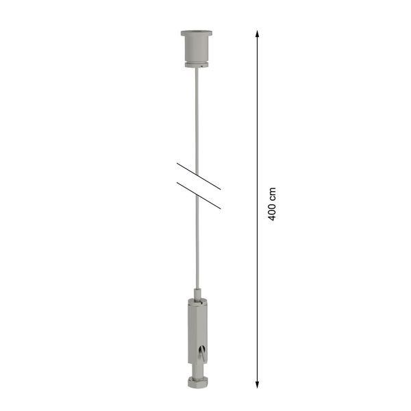 CLE Stahlseilabhänger 4,00m für Profi 3 Ph. Stromschienen