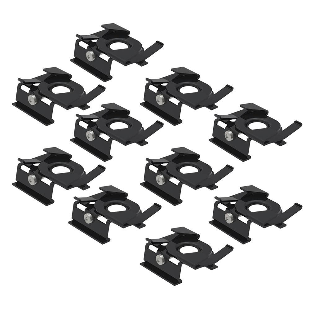 CLE Profilbefestigung für Odenwalddecke Profi 3 Ph. Stromschienen schwarz 1 Set = 10 Stück
