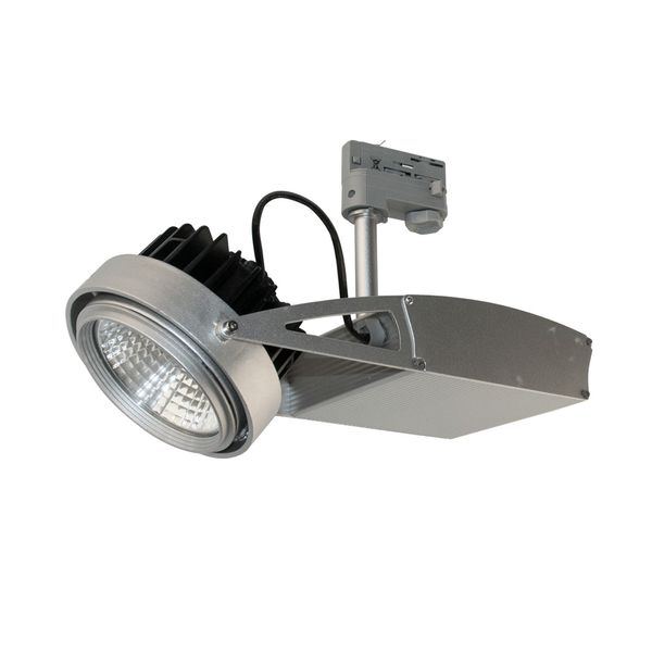 CLE LED Strahler mit FORTIMO 3 Ph Stromschiene 3600lm dimmbar ZigBee 3.0 grau ST55A 32 Grad