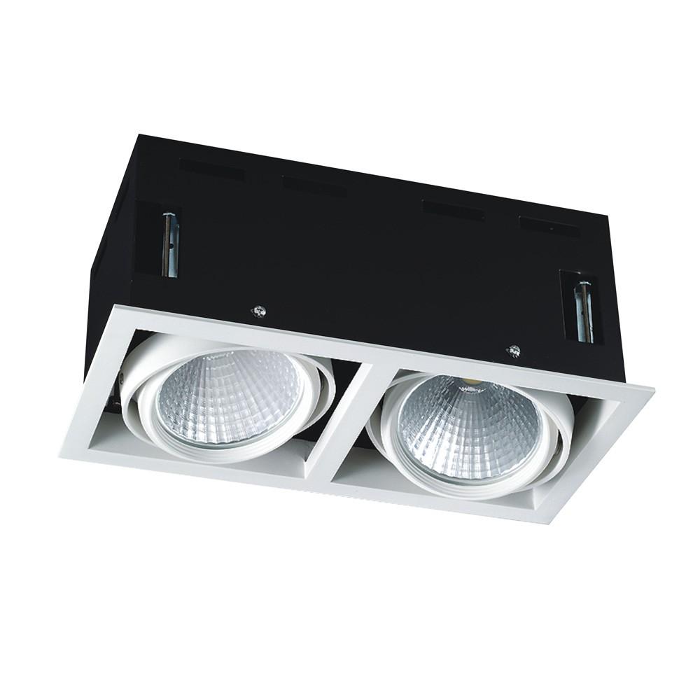 CLE LED Kardan Einbauleuchte YK2 mit Philips Fortimo SLM 2x 3600lm 2x 28W dimmbar ZigBee 3.0 weiß
