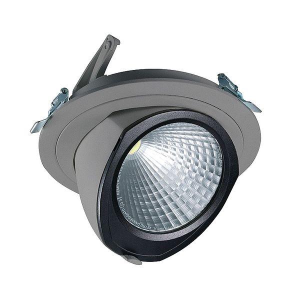 CLE LED YK Einbauleuchte mit Fortimo Modul 3600lm 28W dimmbar ZigBee 3.0 alu-grau