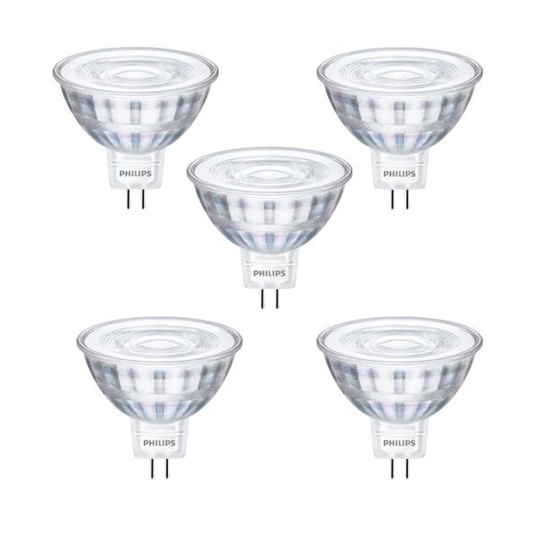 5er Pack CorePro LEDspot 5W(35W) GU5.3 MR16 827 36Grad 345lm 2700K warmweiss
