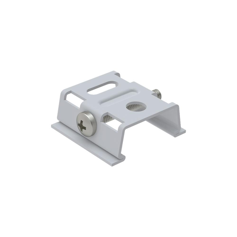 CLE Befestigungsklammer für Profi 3 Ph. Stromschienen weiss