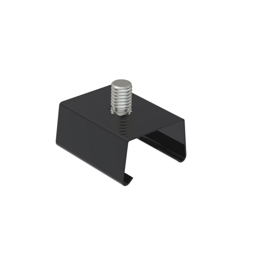 CLE Befestigungsklammer für Profi 3 Ph. Stromschienen schwarz Schnellklemme