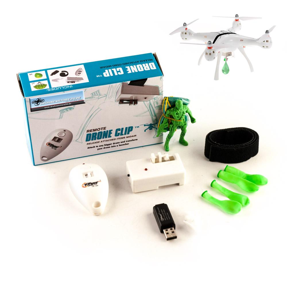 DS24 Drohnen Transport Abwurfsystem für Copter Dronen inkl Fernbedienung
