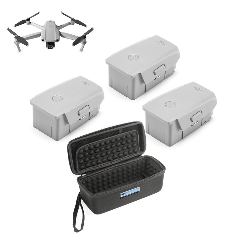 DS24 3x Ersatz Akku Intelligent Flight Battery für Mavic Air 2 plus Transporttasche