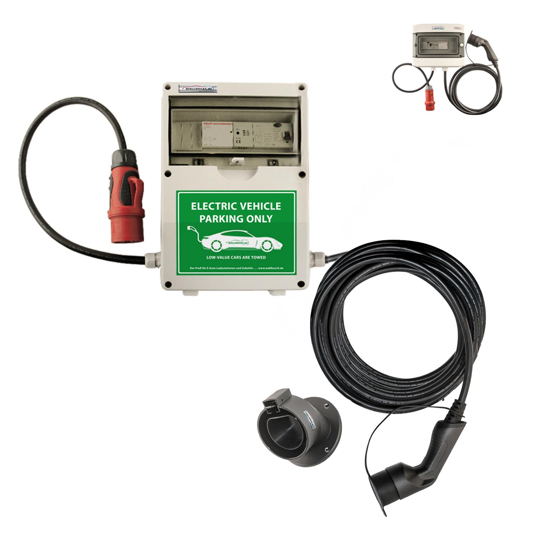 WB24 Wallbox 3 Phasig 400V 11kW 16A Typ 2 7m Ladestation mit Bluetooth für Elektro-/Hybridautos