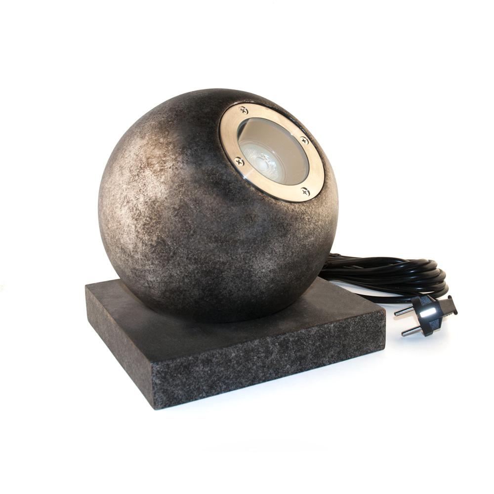 Gaga Lamp Design Objekt Steinkugel LED Leuchte Globe 4,6W 2700K 355lm warmweiß extra