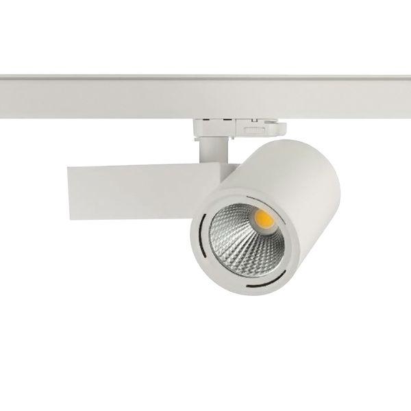 CLE Shoplight Eye LED 3Ph Stromschienenstrahler 30W 3000K 3000lm 35 Grad weiss