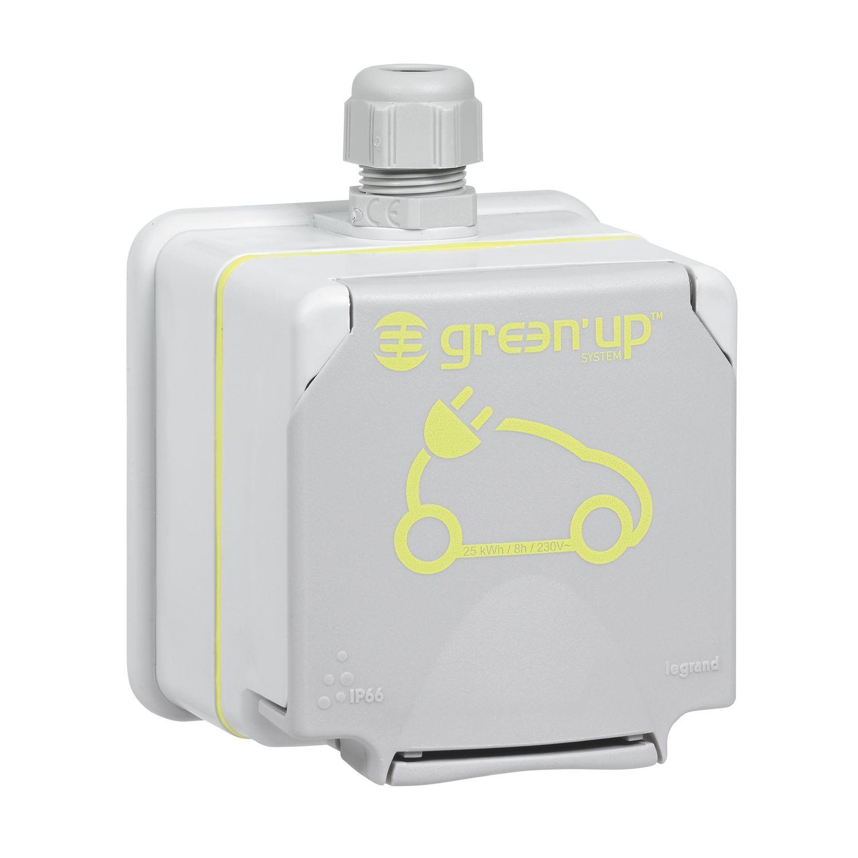 Wallbox24 Legrand Green Up Schutzkontaktsteckdose a.P. IP44 1 Ph 230V 16A für mobile Ladestationen