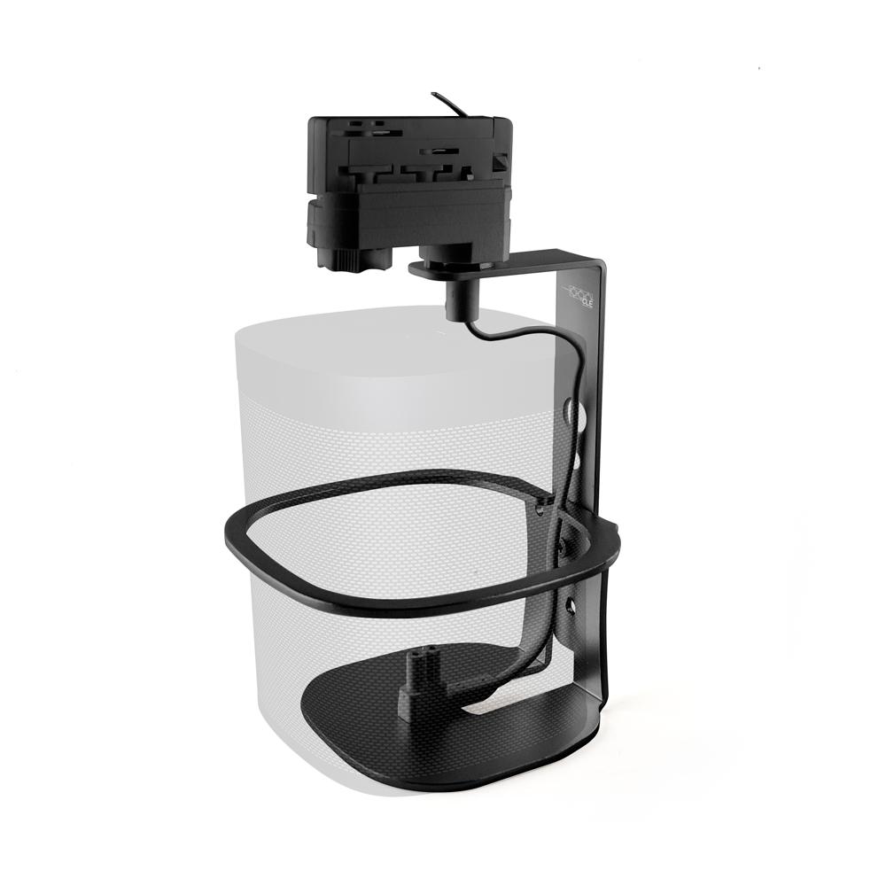 CLE  Montageset für Sonos One und One SL schwarz für 3-Phasen Stromschiene