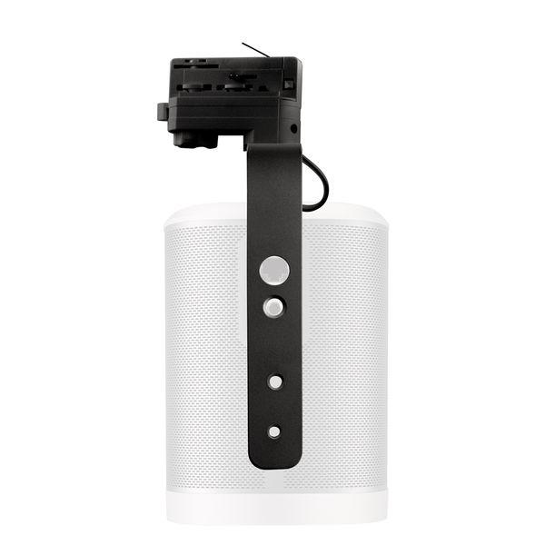 CLE  Montagebügel für Sonos Play 1 schwarz für 3-Phasen Stromschiene
