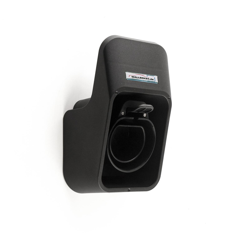 Wallbox24 Wandhalterung geeignet für Ladekabel mit Typ 2 Stecker EV-Ladegerät Elektroauto