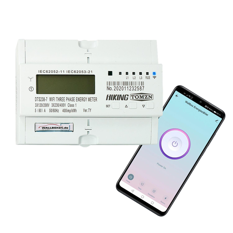 Wallbox24 Wifi Energieverbrauchszähler für Wallbox Ladestation Drehstromzähler