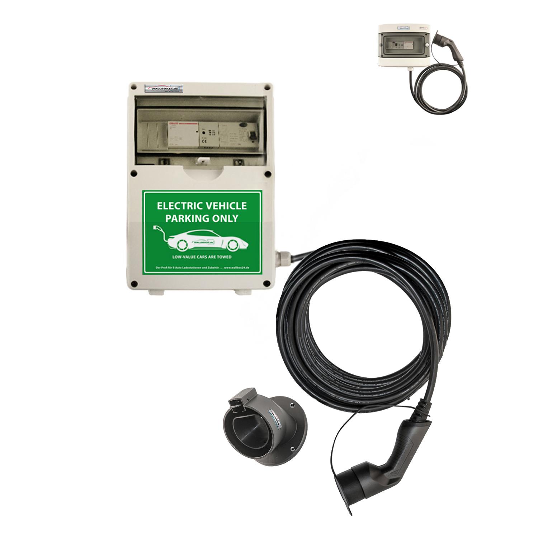 WB24 Wallbox 3 Phasig 400V 22kW 32A Typ 2 5m Ladestation für Elektro-/Hybridautos
