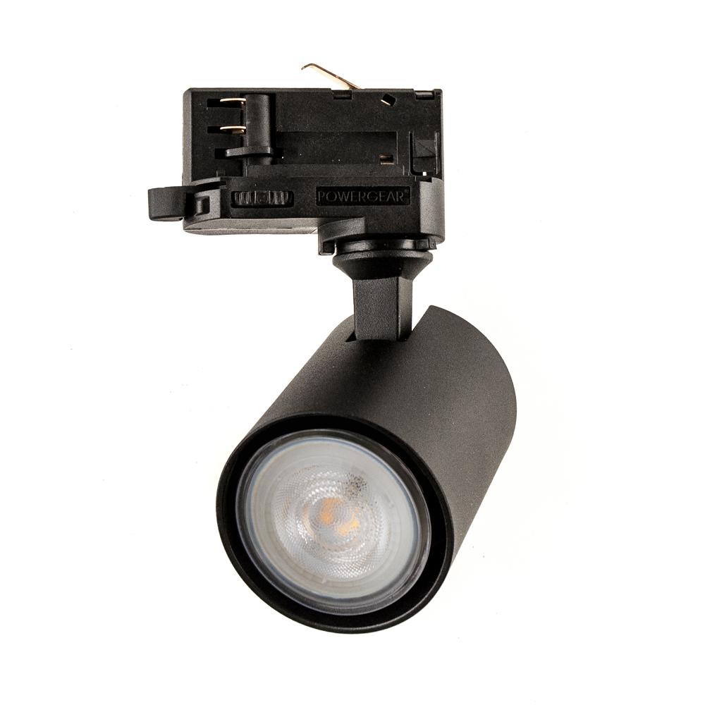 CLE PURI 99 LED 3Ph Stromschienenstrahler GU10 schwarz inkl. Adapter