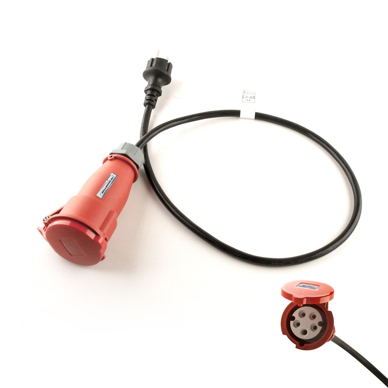 Wallbox24 Adapterkabel 1 Phasig 230V 16A CEE Kupplung auf Schukostecker für Wallbox Ladestation