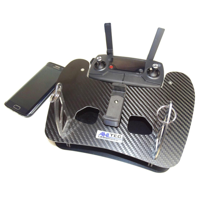 AHLtec Hochwertiges Senderpult für DJI Mavic Mini in Carbon mit Handyhalterung