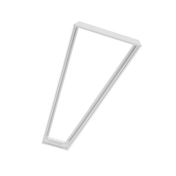 Aufbaurahmen für LED Panels 1200x300x43mm Slim weiß