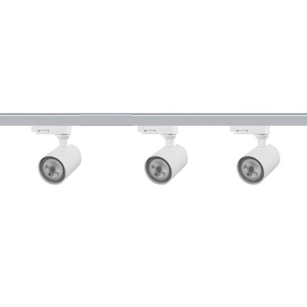 CLE LED Stromschienen Set mit 3 Strahlern GU10 je 5W 2700K 350lm Länge 2m weiss