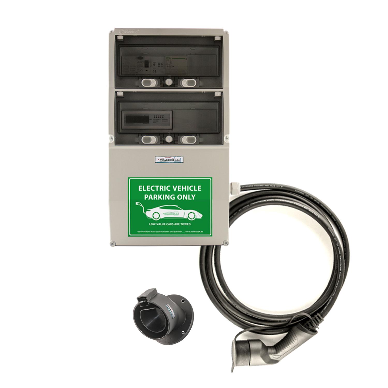 WB24 Wallbox 3 Phasig 400V 22kW 32A Typ 2 5m Ladestation mit geeichtem Stromzähler für Elektro-/Hybridautos