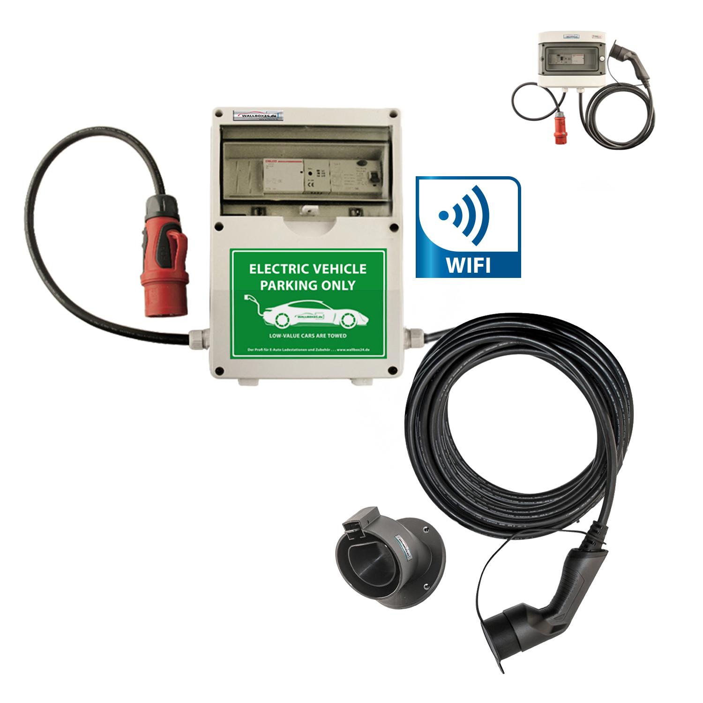WB24 Wallbox 3 Phasig 400V 11kW 16A Typ 2 7m Ladestation mit WiFi für Elektro-/Hybridautos