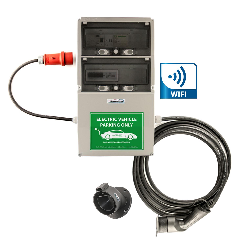 WB24 Wallbox 3Ph 400V 11kW 16A Typ 2 7m Ladestation mit WiFi und Ladeauswertung für Elektro-/Hybridautos