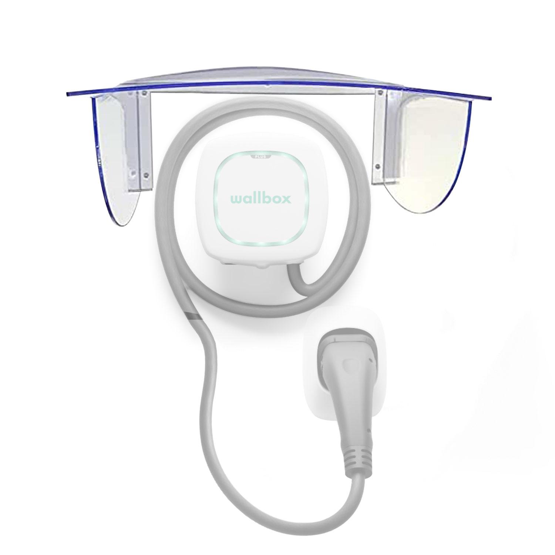 Wallbox24 Wetterschutz small für Wallbox Acrylglas 400x200mm Ladestation Zubehör Elektromobilität