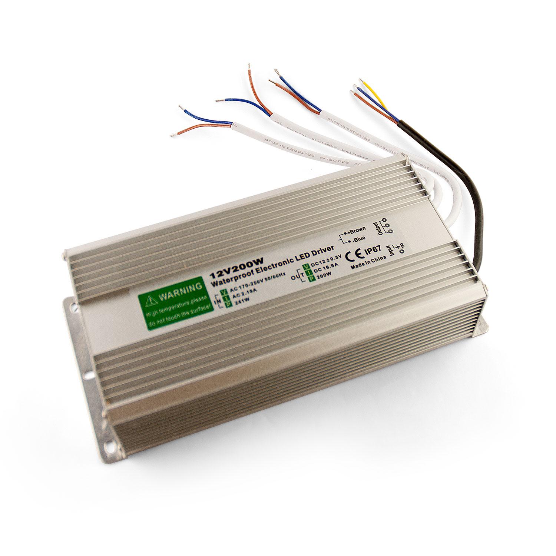 CLE LED Treiber 16800mA 200W 12V DC IP67 wasserdicht Konstantspannung Trafo Netzteil Netzgerät